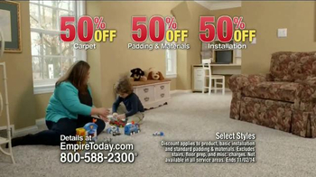 Empire Today 50/50/50 Sale TV Spot, 'Schedule your Free Home Estimate' - 1161 commercial airings