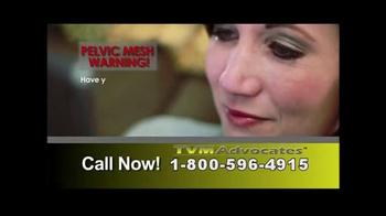TVM Advocates TV Spot, 'Pelvic Mesh' - Thumbnail 1