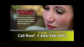 TVM Advocates TV Spot, 'Pelvic Mesh' - Thumbnail 2