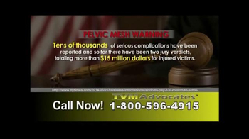 TVM Advocates TV Spot, 'Pelvic Mesh' - Thumbnail 5