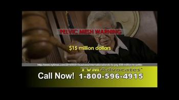 TVM Advocates TV Spot, 'Pelvic Mesh' - Thumbnail 7