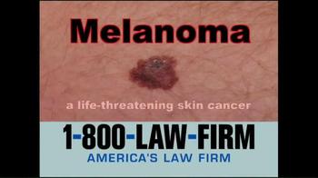 1-800-LAW-FIRM TV Spot, 'Melanoma' - Thumbnail 2