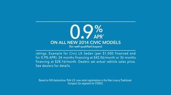 2014 Honda Civic TV Spot, 'Lydia's New Civic' - Thumbnail 10