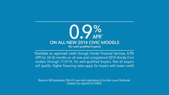 2014 Honda Civic TV Spot, 'Lydia's New Civic' - Thumbnail 9