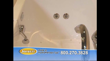 Jacuzzi Walk In Hydrotherapy Tub TV Spot, 'Safe Bathing' - Thumbnail 5