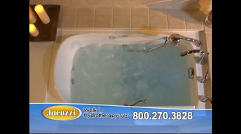 Jacuzzi Walk In Hydrotherapy Tub TV Spot, 'Safe Bathing' - Thumbnail 7