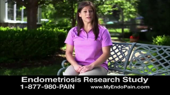 Solstice Study TV Spot, 'Endometriosis Research Study'