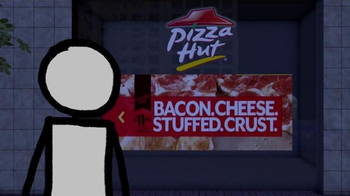 Pizza Hut Bacon Cheese Stuffed Crust Pizza TV Spot, 'Middle of the Pizza' - Thumbnail 9