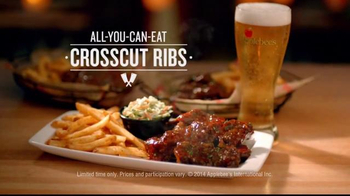 Applebee's All-You-Can-Eat Crosscut Ribs TV Spot, 'Still Haven't Tried?' - Thumbnail 7