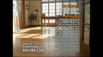 Empire Today Whole House Sale TV Spot, 'Best Finance Offer of the Year' - Thumbnail 1