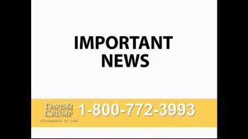 Davis & Crump, P.C. TV Spot, 'Skin Cancer' - Thumbnail 1