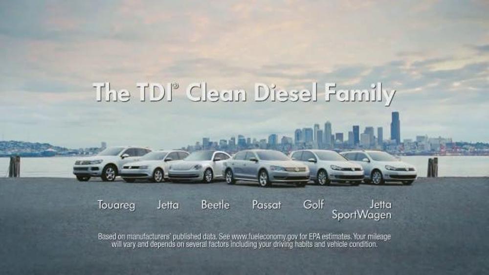 Vw Clean Diesel >> Volkswagen Tdi Tv Commercial The Clean Diesel Family Video