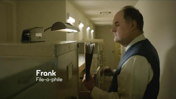 Esurance TV Spot, 'Frank: File-o-phile' - 512 commercial airings