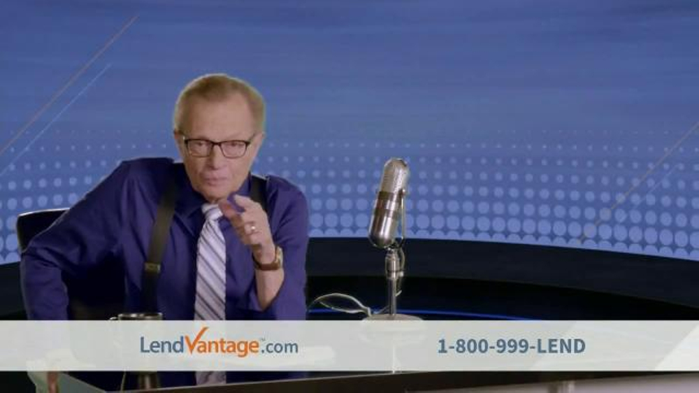 Western Sky Loans >> LendVantage TV Commercial Featuring Larry King - iSpot.tv