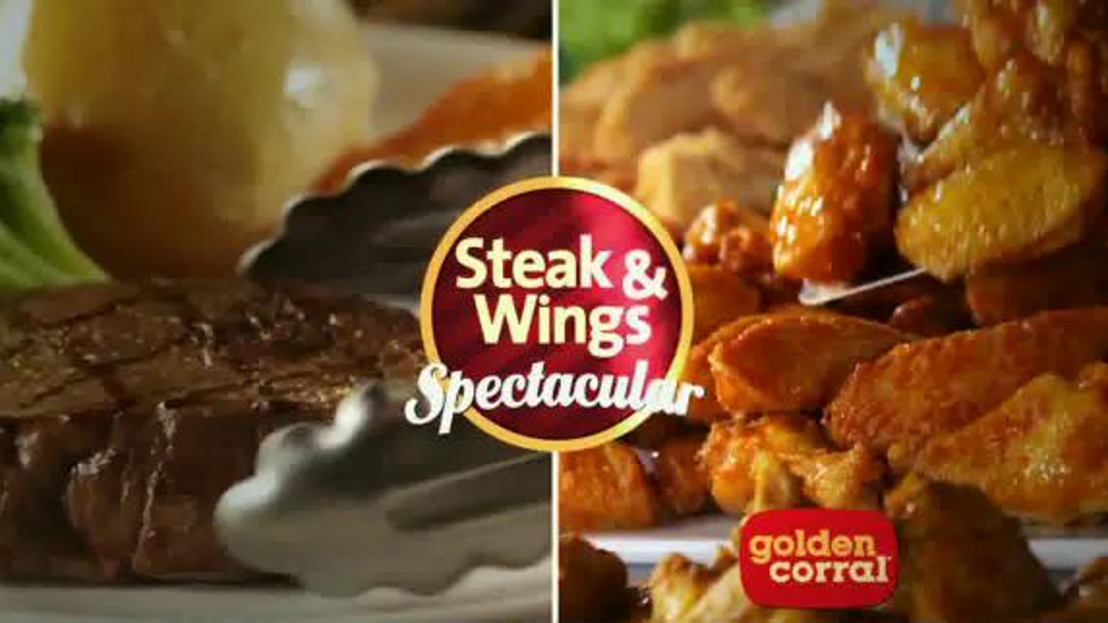 golden corral tv commercial fathers day steak wing spectacular ispottv - Is Golden Corral Open On Christmas Day 2014