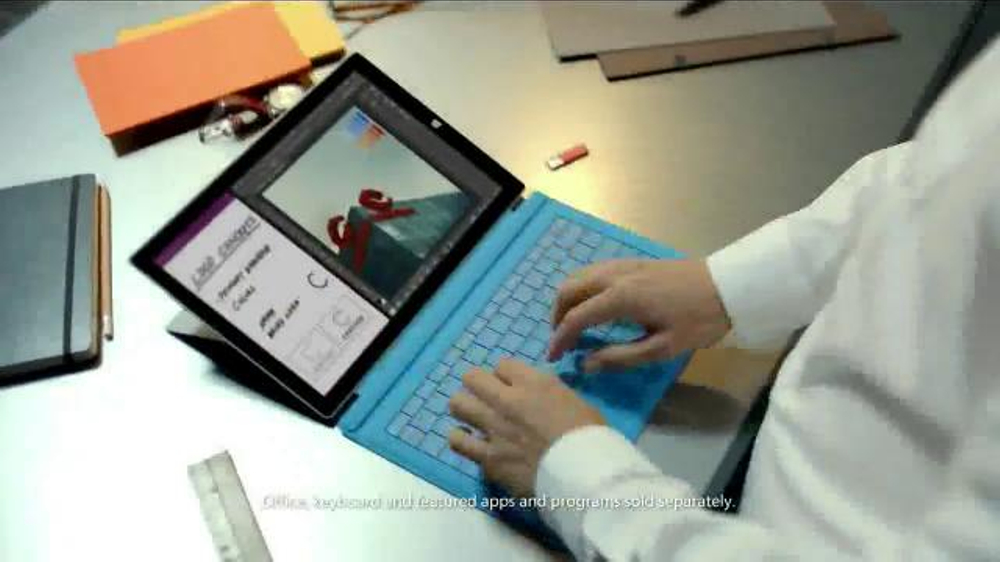 Microsoft Surface Pro 3 TV Commercial, 'The Tablet That Can Replace Your  Laptop' - Video