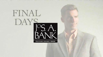 JoS. A. Bank TV Spot, 'Final Days' - Thumbnail 1