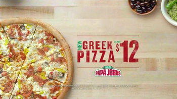 Papa John's Greek Pizza TV Spot, 'Two Countries' - Thumbnail 10
