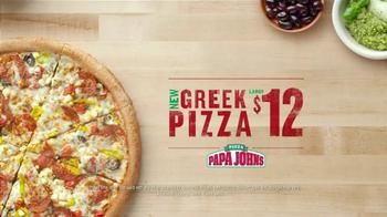 Papa John's Greek Pizza TV Spot, 'Two Countries' - Thumbnail 9