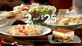 Olive Garden 2 For $25 TV Spot, 'Platos Favoritos' [Spanish]
