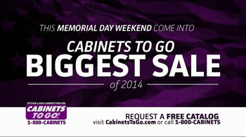 Cabinets To Go TV Spot, 'Memorial Day Sale' - Thumbnail 1