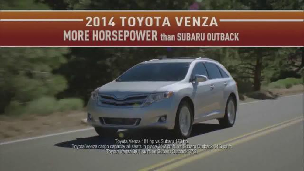 2014 Toyota Venza TV Commercial, U0027Did You Know: Northwest Lifestyleu0027    ISpot.tv