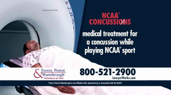 Ferrer, Poirot and Wansbrough TV Spot, 'NCAA Concussion Dangers'