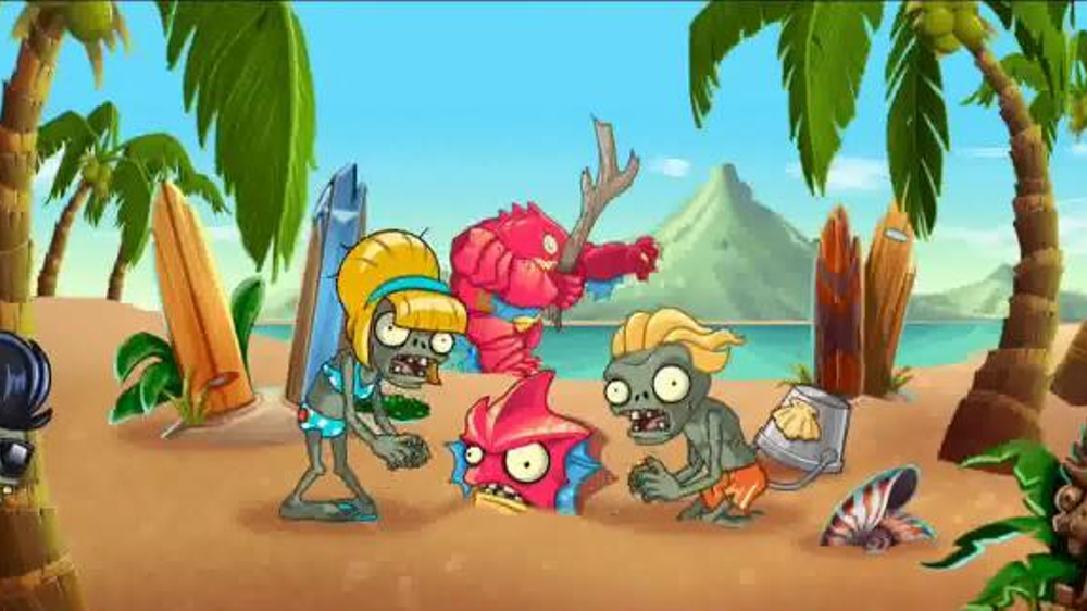 Plants vs  Zombies 2: It's About Time TV Commercial, 'Day at the Beach' -  Video