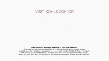 Kohl's 50% Off Sale TV Spot, 'Perfect Thanksgiving' - Thumbnail 5