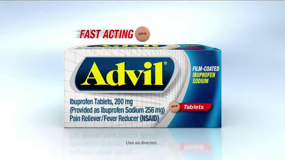 Advil TV Commercial, 'Fast Acting Film-Coated Relief'