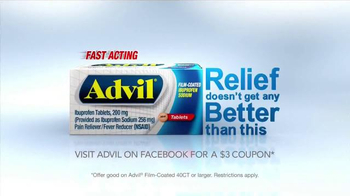 Advil TV Spot, 'Fast Acting Film-Coated Relief' - Thumbnail 10
