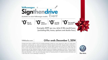 Volkswagen Sign Then Drive Event TV Spot, 'Holiday Season is Here' - Thumbnail 10