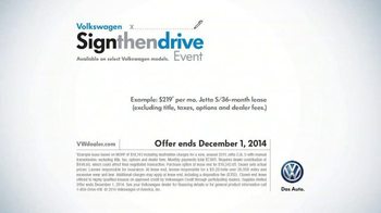 Volkswagen Sign Then Drive Event TV Spot, 'Holiday Season is Here' - Thumbnail 9