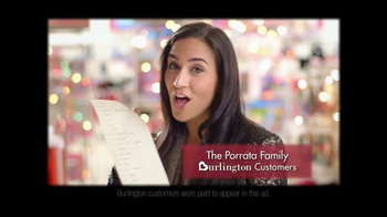 Burlington Coat Factory TV Spot, 'The Porrata Family' - Thumbnail 2