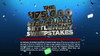 Structured Settlement Sweepstakes TV Spot - Thumbnail 4