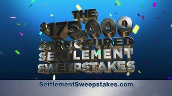 Structured Settlement Sweepstakes TV Spot - Thumbnail 1