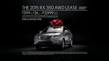 2015 Lexus RX 350 December to Remember Sales Event TV Spot, 'Teleporter' - Thumbnail 10