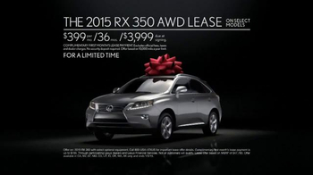 2015 Lexus RX 350 December to Remember Sales Event TV Spot, 'Teleporter' - Thumbnail 9