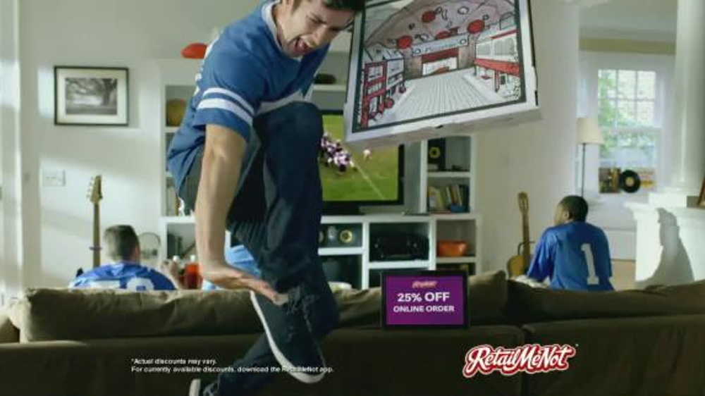 Retailmenot.com TV Commercial, 'Does 25% Off Cause Excessive Celebration?'