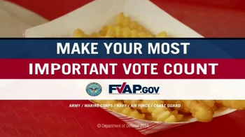 Federal Voting Assistance Program TV Spot, 'Mayo on French Fries?' - Thumbnail 10