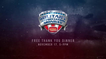 Golden Corral TV Spot, 'National Geographic: Military Appreciation Monday' - Thumbnail 8