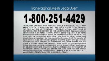 Avram Blair & Associates TV Spot, 'Transvaginal Mesh Legal Alert' - Thumbnail 5