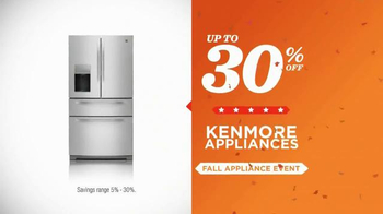 Sears Fall Appliance Event TV Spot, 'Thanksgiving Cooking' - Thumbnail 7