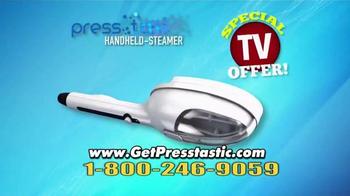 PressTastic Handheld-Steamer TV Spot, 'Fast, Easy, Steaming' - Thumbnail 8