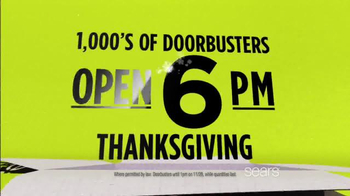 Sears Black Friday Event TV Spot, 'Doorbusters' - Thumbnail 4