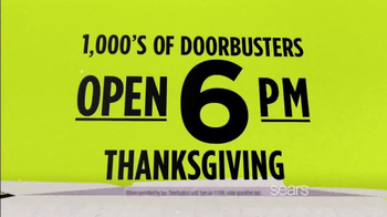 Sears Black Friday Event TV Spot, 'Doorbusters' - Thumbnail 5