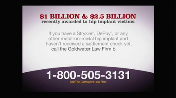 Goldwater Law Firm TV Spot, 'Metal on Metal Hip Implant' - Thumbnail 7