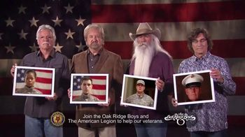 The American Legion TV Spot, '22 Veterans' Ft. The Oak Ridge Boys