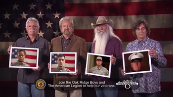 The American Legion TV Spot, '22 Veterans' Ft. The Oak Ridge Boys