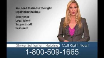 Hughes & Coleman TV Spot, 'Stryker Settlement Helpline' - Thumbnail 10